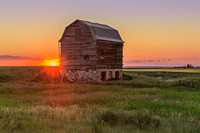 4. Sunrise over Farmhouse/Barn near Milk River, Alberta