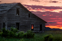 8. Sunset over Farmhouse near Twin Butte, Alberta