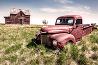 1. Farmhouse & Truck near Leader, Saskatchewan