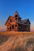 18. Sunset over Farmhouse near Shaunavon, Saskatchewan
