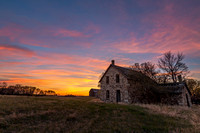 12. Sunset over Farmhouse near Wolseley, Saskatchewan